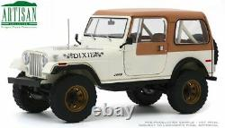 1/18 Greenlight Daisy Dukes 1979 Golden Eagle Jeep Cj-7 Dixie Dukes Of Hazzard