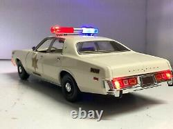 1/18 Plymouth FURY DUKES OF HAZZARD COUNTY SHERIFF Working POLICE Lights Ut