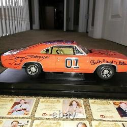 118 Die Cast Autographed General Lee Dukes of Hazard Signed by 8 Cast Members