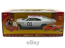 118 Dukes of Hazzard General Lee #01 1969 Dodge Charger White Lightning Car