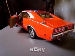 118 general lee diecast car 3mm led custom lights dukes of hazzard