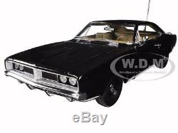 1969 Dodge Charger Black Happy Birthday General Lee 1/18 By Autoworld Awss110
