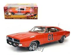 1969 Dodge Charger Dukes Of Hazzard General Lee 1/18 Car Model by Autoworld