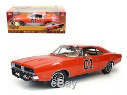 1969 Dodge Charger Dukes Of Hazzard General Lee 1/18 Diecast Car Model Autoworld