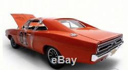 1969 Dodge Charger Dukes Of Hazzard General Lee 1/18 Diecast Car Model by Autow