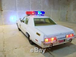 1974 Dodge Monaco POLICE Rosco Patrol Dukes Of Hazzard WORKING LIGHTS 1/18 Ut