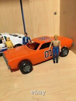 1980 Dukes of Hazzard Lot The General Lee Bo Luke Roscoe Cop Car Boss Hogg Mego