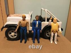 1980 Vintage Plastic Dukes of Hazzard Daisys Jeep with Bo & Luke Duke Mego lot