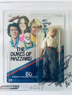 1981 MEGO DUKES OF HAZZARD BO AFA 80 UNPUNCHED! Autographed