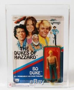 1981 Mego Dukes of Hazzard Carded 3-3/4 Action Figure Bo Duke Cas 80+ Afa Rare
