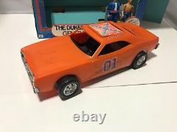 1981 Mego Dukes of Hazzard General Lee Car Bo Duke & Luke Duke 69 Dodge Charger