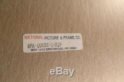 1981 NATIONAL PICTURE & FRAME Co. 21 X 29 PRINT GENERAL LEE Dukes of Hazzard