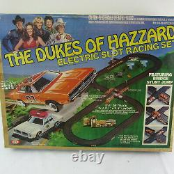 1981 The Dukes Of Hazzard Electric Slot Racing Cars Incomplete for Parts Repair