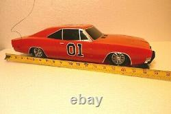 2005 Dodge Charger Dukes Of Hazard General Lee Rc Car As Is No Remote 19 Inches