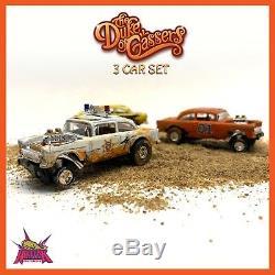 2019 Hot Wheels Super Treasure Hunt 55 CHEVY Gasser dukes Of Hazzard 3 Car Set