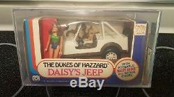 AFA 80+ 1981 Mego Dukes of Hazzard Daisy Duke Jeep Daisy LONG HAIR MIB MISB NIB