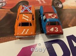 AFX Aurora HO Daredevil Hazard Slot Car Set Rebel Charger 11 Plymouth 43 Dukes