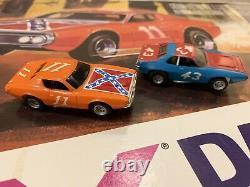 AFX Daredevil Hazard Slot Car Set Rebel Charger Plymouth Roadrunner 43 Dukes