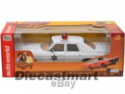 AUTOWORLD AWSS107 DUKES OF HAZZARD 1975 DODGE MONACO ROSCO PATROL POLICE 118
