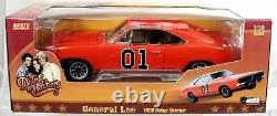 AUTOWORLD DUKES OF HAZZARD GENERAL LEE 1969 DODGE CHARGER Never Opened! 1/18