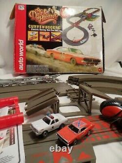AW Auto World The Dukes of Hazzard General Lee Slot Car Set Near Complete