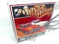 Auto World Dukes of Hazzard Slot Car Race Set 38' Track Rare Set READ