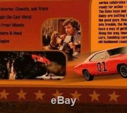 Autographed Auto World Dukes Of Hazzard 1975 Dodge Police Car 118 Scale-new