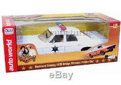Autoworld 1975 Dodge Monaco Dukes Of Hazzard Police Car 118 White Awss107