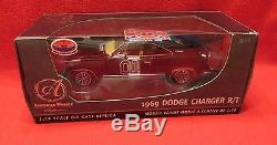 BLACK Dukes of Hazzard General Lee 1969 Charger R/T Ertl Authentics 1/18 Rare