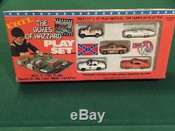 Complete 1981 THE DUKES OF HAZZARD PLAY SET Charger Jeep Patrol Car Cooter Truck