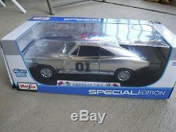 Custom Chrome Style Dukes Of Hazzard 1969 Charger The General Lee 118 Scale