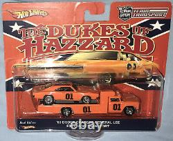 Custom Hot Wheels Team Transport Set Dukes of Hazzard'69 Charger & Retro Rig