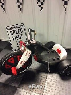 Custom Made Dukes Of Hazzard Power Cycle Big Wheel One Of A Kind