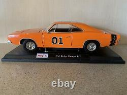 Custom The Dukes Of Hazzard General Lee 1969 Dodge Charger Rt 118 Rare