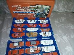 DUKES OF HAZZARD 1/64 ERTL LOT with Case! General, cooter, Rosco, Boss Hog 39 cars
