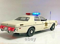 DUKES OF HAZZARD COUNTY SHERIFF 1/18 DODGE CORONET uT Working POLICE Lights