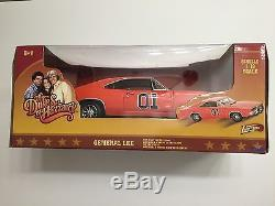 DUKES OF HAZZARD Catherine Bach Wopat Schneider signed GENERAL LEE Die Cast Car