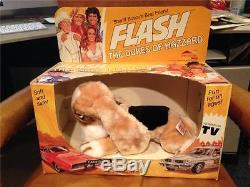DUKES OF HAZZARD FLASH DOG TOY IN BOX ANIMAL FAIR 1982 MINT IN BOX UNPLAYED WITH