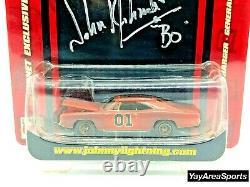 DUKES OF HAZZARD Johnny Lightning'69 Charger GENERAL LEE John Schneider Signed