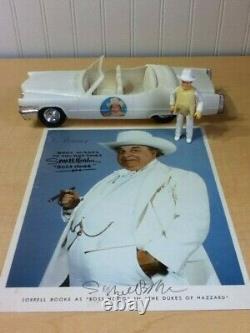 Dukes Hazzard General Lee Mego Boss Hogg Cadillac Figure Sorrell Booke Autograph