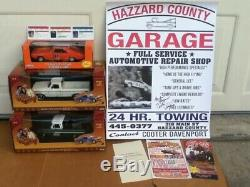 Dukes Of Hazzard 1/24 Diecast General Lee Cooter Uncle Jesse Autograph Poster