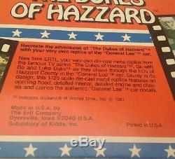 Dukes Of Hazzard, 1/25 Scale, Ertl, General Lee Die Cast Metal Car, 8 Inches, NRFB