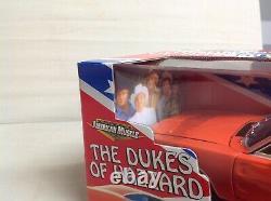 Dukes Of Hazzard Charger Flag Box Black Interior 1/18 Ertl Rare American Muscle
