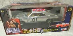 Dukes Of Hazzard General Lee Chrome 1969 Charger Joy Ride 1/18 NEW IN BOX ERTL