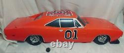Dukes Of Hazzard General Lee RC Car 1/10 1969 Dodge Charger 27mhz Malibu WORKING