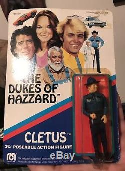 Dukes Of Hazzard Mego Luke Bo Daisy Boss Hogg Cletus Rosco 3 3/4 Moc