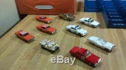 Dukes Of Hazzard Storage Case, ertl, 1981,2 racks, 9 cars164, the whole gang, vg