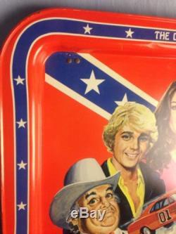 Dukes Of Hazzard TV Tray 1981. Southern flag General Lee Daisy Bo Luke Boss