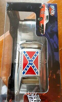 Dukes of Hazard General Lee Chrome 1969 charger joy ride 1/18 new in bix