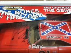 Dukes of Hazzard 1/18 Limited Edition BARRIS KUSTOM General Lee withAUTOGRAPHS LOT